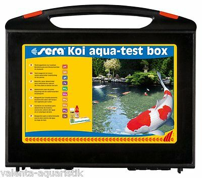 Sera Koi Aqua-Test Box Testlabor Testkoffer Teich Wassertest m. Reagenz Koiteich