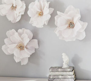 Crepe Paper Flower Decor from Pottery Barn in Perfect Condition