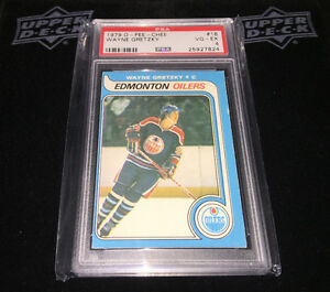 1979/80 O-Pee-Chee WAYNE GRETZKY Rookie PSA 4 Graded London Ontario image 1