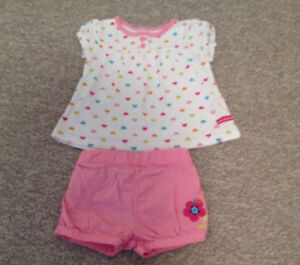 CARTERS TSHIRT AND SHORTS TODDLER SZ 24M