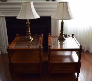 End Tables + lamps