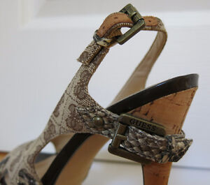 ***REDUCED*** Guess Peep Toe Sling Back Sandals