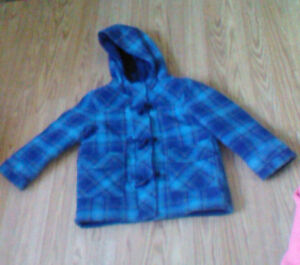 Size 5 Boys Fleece Coat $4