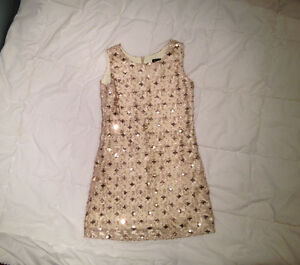 Laundry by Shelli Segal Gold Soutache Sequin Dress Girl Size 8