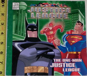 Justice League Book & 8 Toy Figures with Batman, Superman, Joker