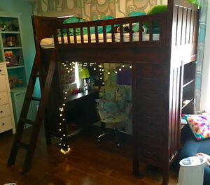 Pottery Barn Loft Bed - Camp Bunk System