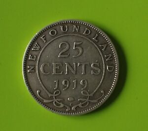 Newfoundland 25 cent silver. Minted in 1917 and 1919 ONLY!