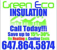 """GreenEco Insulation Service Cellulose Upgrade """"Free Estimate"""""""