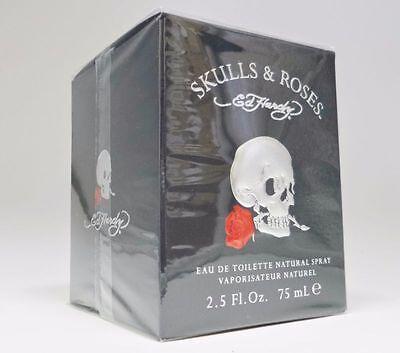 Skulls   Roses Ed Hardy 2 5 Oz 75 Ml Men Cologne Edt Spray And New In Box