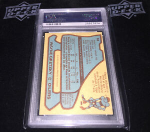 1979/80 O-Pee-Chee WAYNE GRETZKY Rookie PSA 4 Graded London Ontario image 2