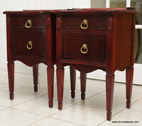 Pair of Antique Mahogany Night Stands Tables