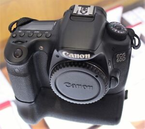 CANON EOS 60D DIGITAL CAMERA  & GRIP