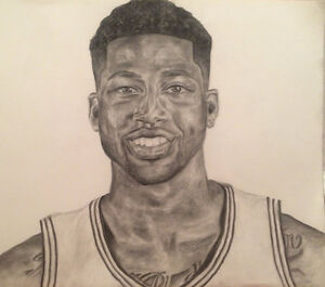 Cleveland Cavaliers Tristan Thompson Portrait Drawing