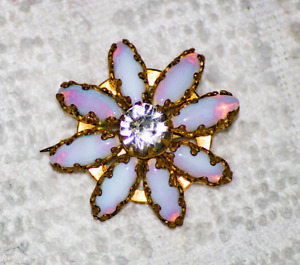 1930 art deco  opal brooch