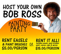 Host your own Bob Ross painting party!