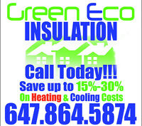 GreenEco Insulation Service    Save 15-30% On Monthly Energy!!!!