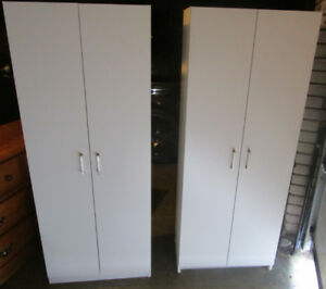 Pair of white storage cabinets 4 sale