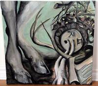Huile sur toile originale style surréaliste / Original painting
