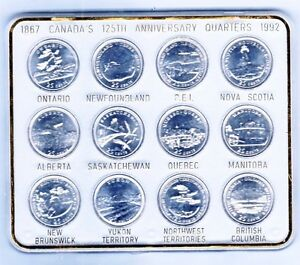 Canada 1992 Provincial coin set in hard plastic case