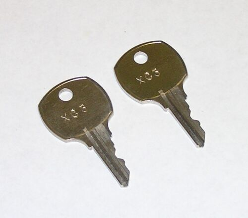 2 - XC3 Replacement Keys for Victory Refrigeration Equipment