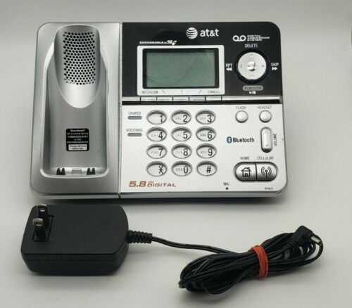 AT&T Telephone Base Model EP5632-2 5.8GHZ Digital Answering System Phone