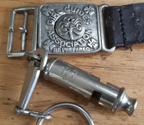 Vintage Acme Guides Whistleand Belt Buckle and Clip