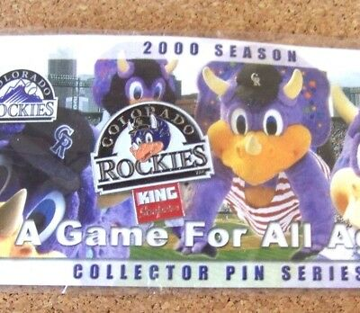 2000 Season Colorado Rockies Pin Dinger Mascot King Soopers