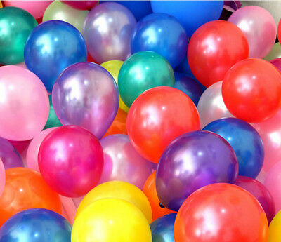 100pcs 10 inch Pearl Latex Colorful Thickening Wedding Party Birthday Balloon ](100 Birthday)