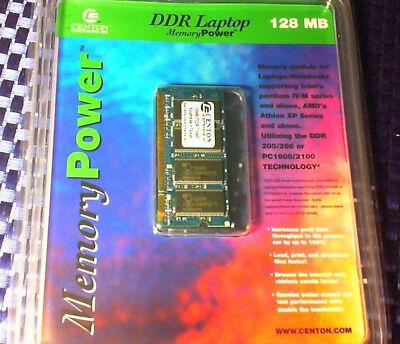 128mb Pc 2100 Ddr Ram (Centon 128 MB PC2100 DDR 266 MHz 200 pin Laptop Memory Ram CL2.5 AMD Athlon )