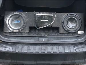 Truck sub box and subs for sale