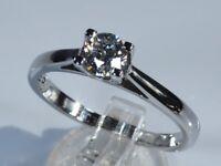 "IGI Certified ""Forever"" Platinum 0.57ct Diamond Solitaire Engagement Ring rrp £3,500"