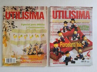 2X Revista UTILISIMA Manualidades Y Artesanias - Spanish Arts Crafts Magazines - $26.00