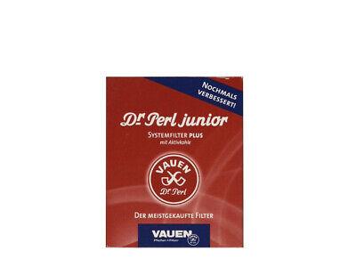 Vauen Dr. Perl Junior Aktivkohlefilter Pfeife Filter 9mm 40 Stück Pfeifenfilter