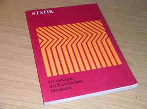 Statik grundlagen technische mechanik mit aufgaben loesungen for Technische mechanik statik aufgaben