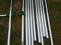 Shopping trolly barriers crome new