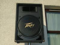 "Pair of Peavey 15"" PA speakers/stands"