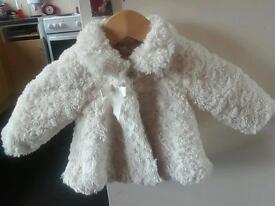 6-9mth baby girl fur coat