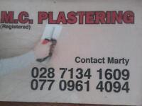 Plasterer available
