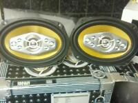 Speakers amp and sub woofer for car