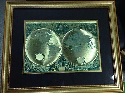 Nova Totivs Terrarvm Orbis Geographica Tabvla Gold Foiled World Map Henr Hondio