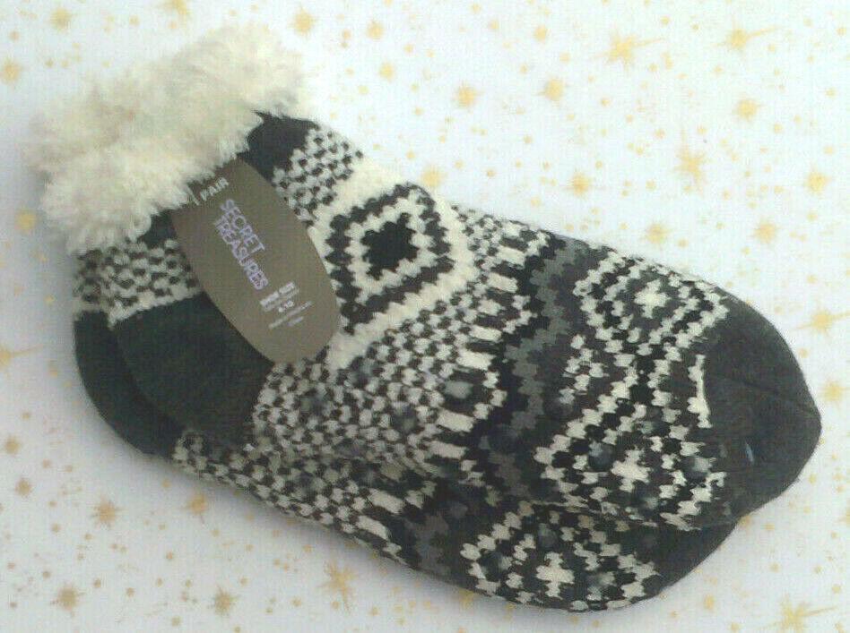 women s soft lined cozy slipper socks