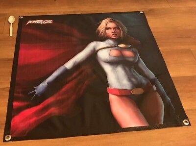 Power Girl figure poster comic book banner model sign superhero action  - Comic Book Banner