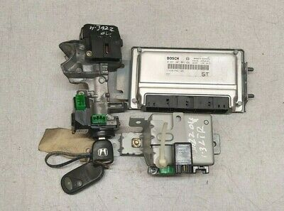 HONDA JAZZ MK2 2004 PETROL IGNITION LOCK SET WITH KEY ENGINE CONTROL ECU UNIT