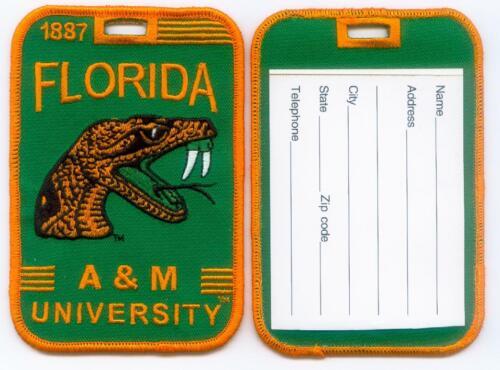 FLORIDA A&M UNIVERSITY Luggage ID Tags (Set of 2) Embroidered FAMU - HBCU