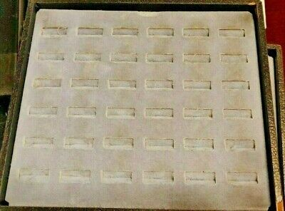 Jewelry Ring Display Tray Boxes 8.25 X 7.25 X 1