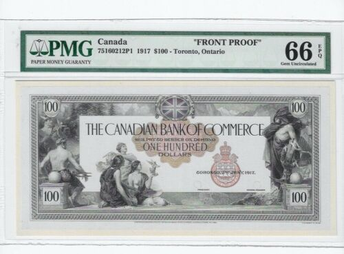 1917  Bank of Commerce 75160212P1 $100 Note ;PMG *MS-66 EPQ*