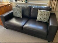 Like new leather sofa bed