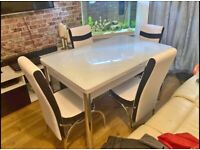 💖LUXURY STYLISH💝BRAND NEW STORAGE DINING TABLE WITH 6 CHAIRS 💖FOR LUXURY HOME💝
