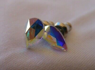 HYPOALLERGENIC Stud Earrings  Swarovski Elements Crystal in Aurora Borealis AB