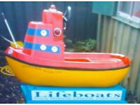 Ex RNLI electric rocking boat perfect for xmas